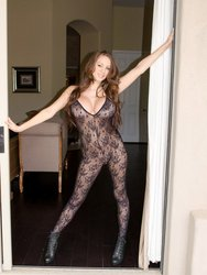Hot Busty Talia Shepard In Crotchless Bodystocking