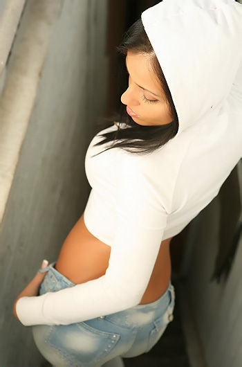 White Hoodie And Brazilian Jeans