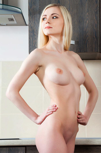 The Proud Blonde In The Kitchen