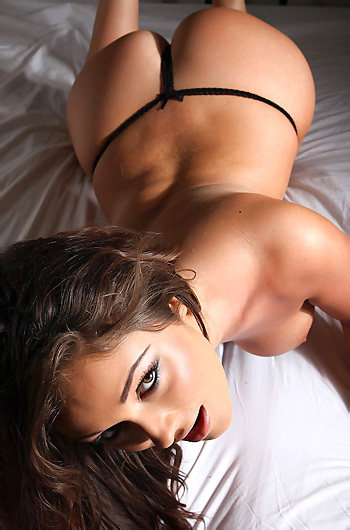 Caitlin Strips On Bed