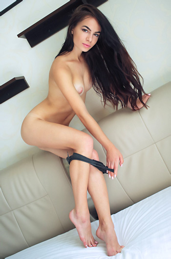 Skinny Brunette Beauty Debora