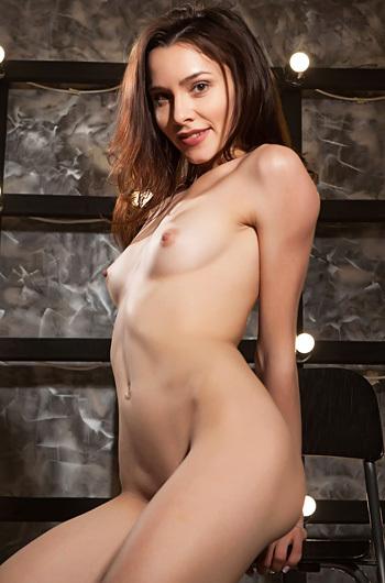 Sexy Brunette Adel Morel Is Posing Nude