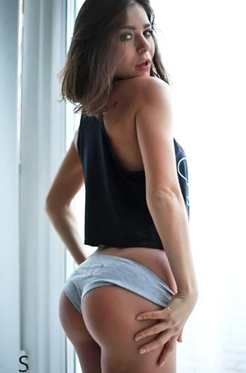 Cute Teen Lily C In Sexy Grey Panties