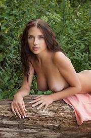 Busty Niemira Undressing Outdoor