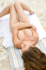 Judith Fox Nude By The Pool