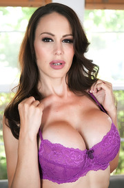 Busty MILF Mckenzie Lee Strips Off Her Sexy Purple Lingerie