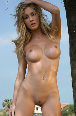 Busty Tindra Is Naked Outdoors