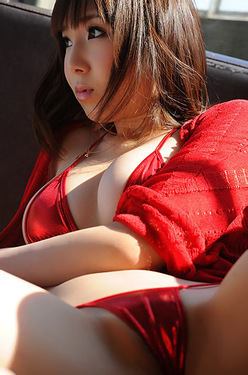Kurara Horie In Sexy Red Thong