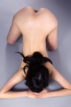 Miku Aso Nude In The Studio