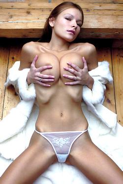 Luba Shumeyko In Sexy White Panties