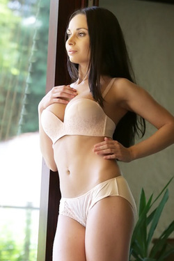 Kristall Posing In Sexy Lingerie