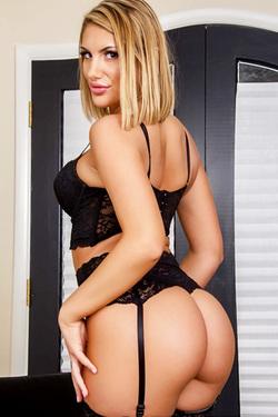 Stocking Attired Blonde Babe